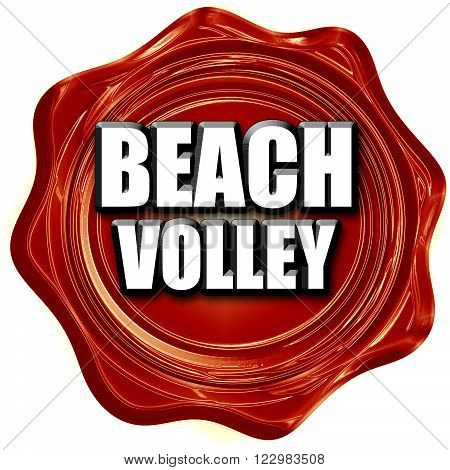 beach volley sign with some soft smooth lines