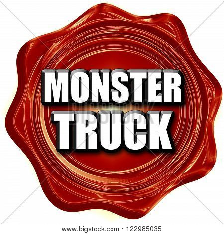monster truck sign background with some soft smooth lines