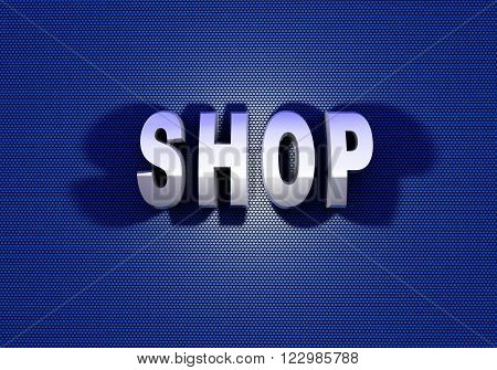 text shop blue letter white shadow sieve