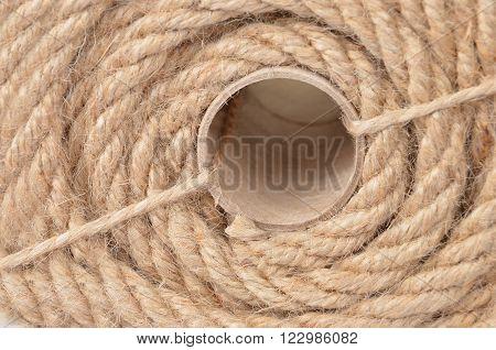 Natural fiber manila rope close up DOF