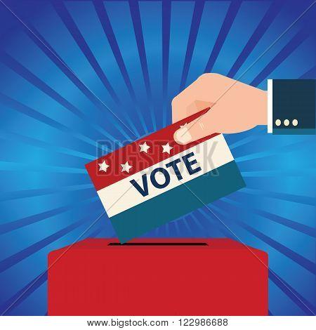 Vote design with Ballot boxes Voting Election Politic Decision Democracy Concept vector illustration.