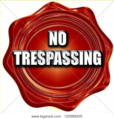 No trespassing sign with black and orange colors