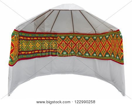 Nomad's yurt tent is the national dwelling of Kazakhstan. Clipping path included. ** Note: Soft Focus at 100%, best at smaller sizes