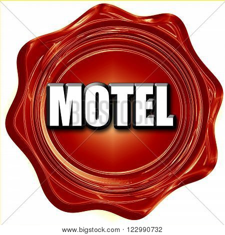 Vacancy sign for motel with some soft glowing highlights