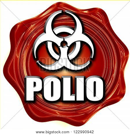 Polio concept background with some soft smooth lines