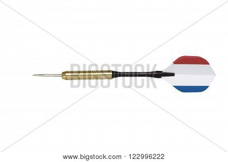 powerful country(France) darts isolated on white with clipping path