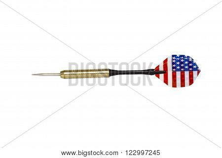 Powerful Country Darts Isolated On White