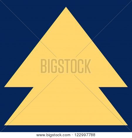 Move Up vector icon symbol. Image style is flat move up iconic symbol drawn with yellow color on a blue background.