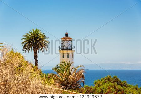 Views of the California coast. Point Vicente Lighthouse, California