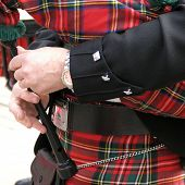 picture of bagpiper  - Scottish piper playing bagpipes - JPG