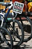 stock photo of burlington  - bikes for sale detail store in burlington vermont - JPG