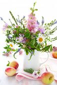 picture of flower arrangement  - bunch of wild herbs - JPG