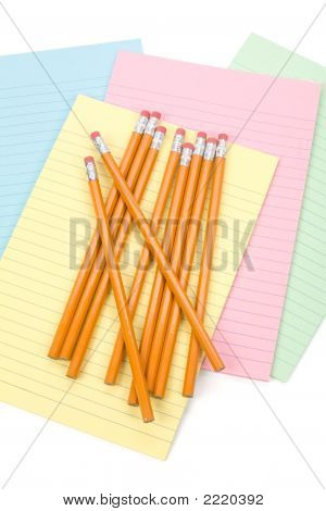Notepaper And Pencils