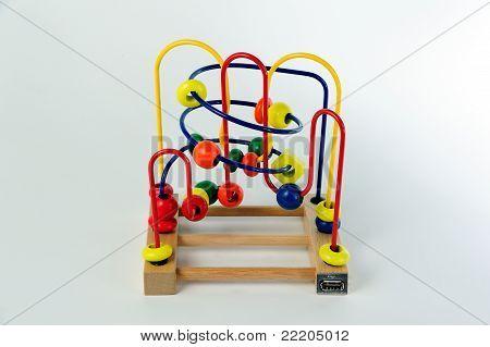 USB maze abacus toy