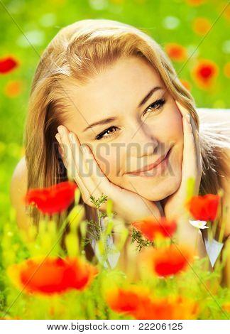 Lovely Girl Enjoying Nature