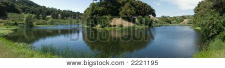 Panorama Of Horseshoe Lake