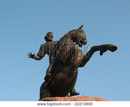 Monument To Evpatiy Kolovrat In Ryazan