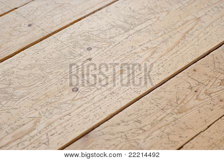 Different Sized Planks Of Parquet Floor