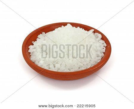 Coarse Sea Salt Terra Cotta Dish