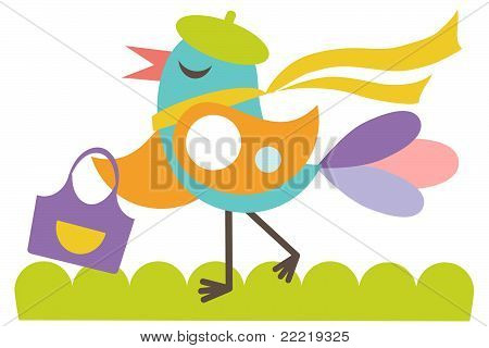 Happy girlie bird