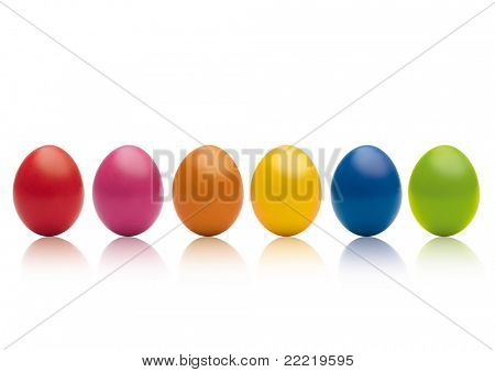 six easter-eggs in a row