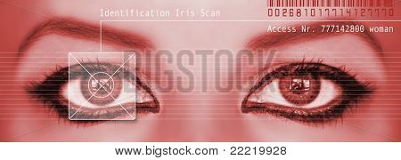 digital eye scan of a woman