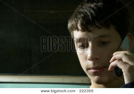 Teen With Cell Phone