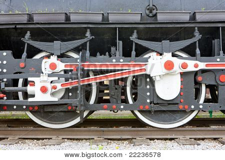 detail of steam locomotive, Visegrad, Bosnia and Hercegovina