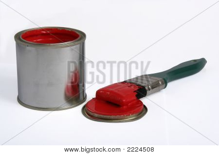 Paint Tin And Brush 3