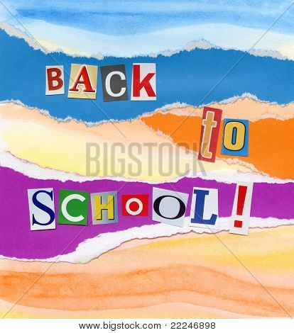 Handmade back to school concept collage.