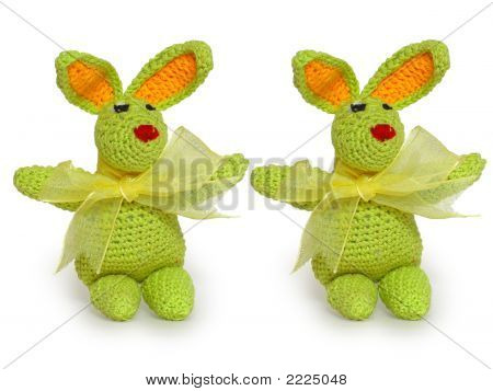Two Green Tiny Rabbits