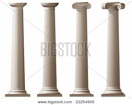 Roman Doric And Ionic Columns