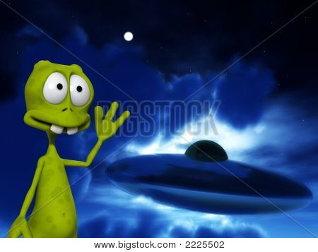 Alien With Ufo