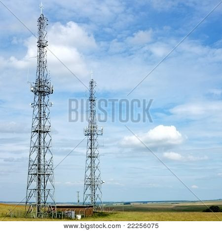 Microwave relay towers