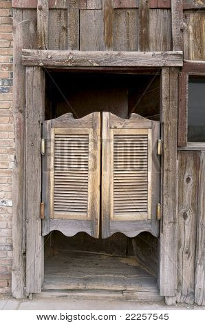 Old Western Swinging Saloon Doors