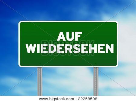 Good Bye Road Sign