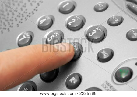 Finger And Phone Keypad