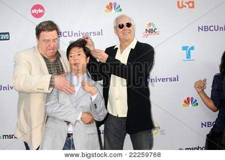 LOS ANGELES - AUG 1:  John Goodman, Ken Jeong, Chevy Chase arriving at the NBC TCA Summer 2011 Party at SLS Hotel on August 1, 2011 in Los Angeles, CA