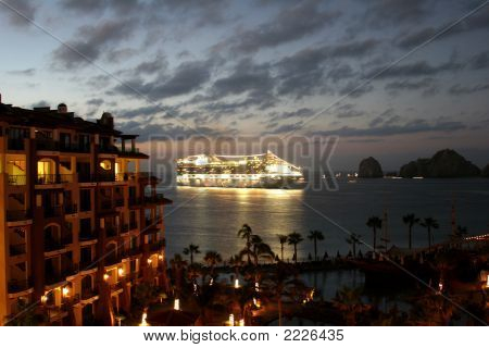 Cruise Ship On The Sea Of Cortes