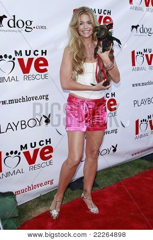 LOS ANGELES - JUL 19: Denise Richards at the Much Love Animal Rescue fundraiser 'Bow Wow Wow' at the Playboy Mansion on July 19, 2008 in Los Angeles, California