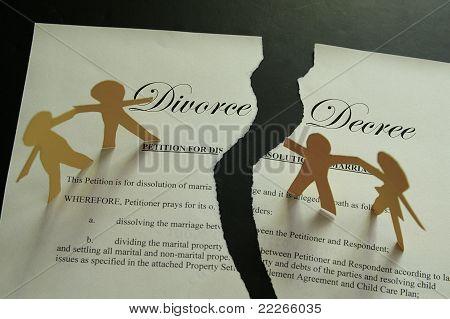 Scheidung-Konzept