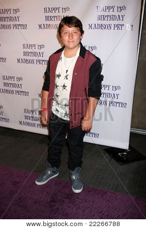 LOS ANGELES - JUL 31:  Frankie Jonas arriving at the13th Birthday Party for Madison Pettis at Eden on July 31, 2011 in Los Angeles, CA