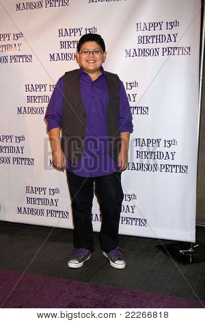 LOS ANGELES - JUL 31:  Rico Rodriguez arriving at the13th Birthday Party for Madison Pettis at Eden on July 31, 2011 in Los Angeles, CA