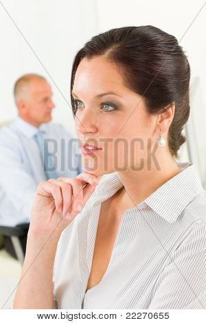 Professional Businesswoman Attractive Thoughtful