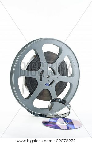 16mm film reel and DVD