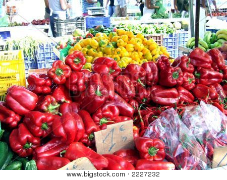 Plentiful  Peppers  Santa Pola Open Air Market