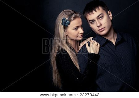 couple wearing black