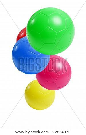Colorful Plastic Soccer Balls
