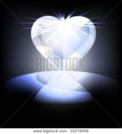 ice heart-crystal
