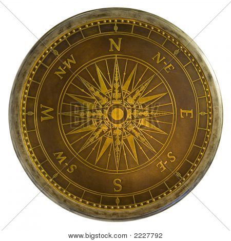 Brass Nautical Compass